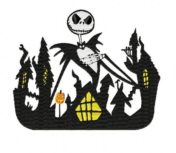 Nightmare Before Christmas Halloween Town Embroidery Designs