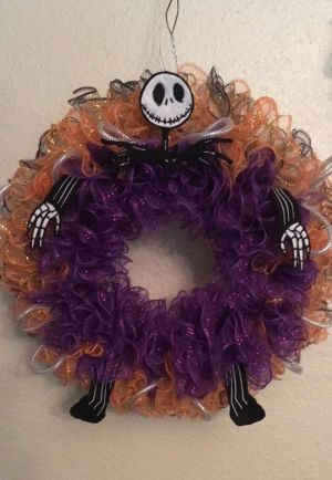 Jack Skellington ITH Applique Wreath Embroidery DeThe Nightmare Before Christmassign