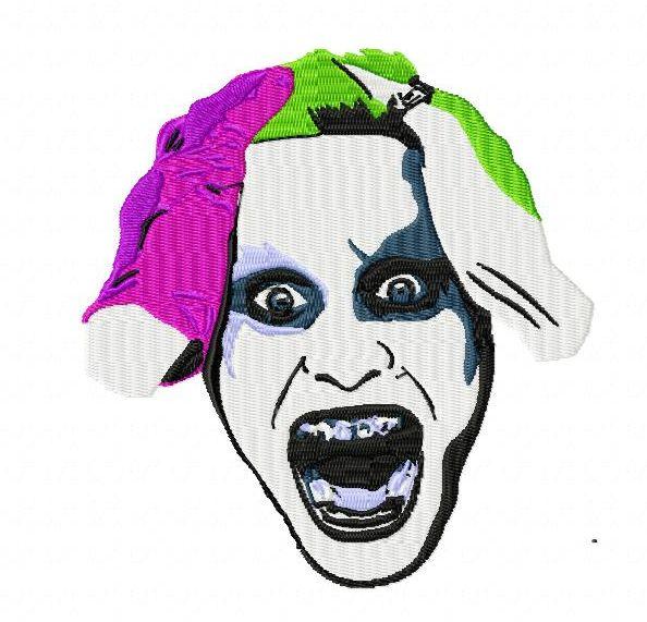 Suicide Squad Joker Jared Leto Embroidery Design