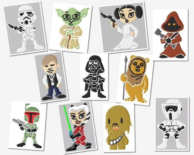 Junior Star Wars Embroidery Designs Set 4x4