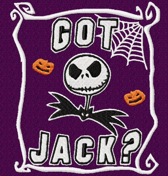 Nightmare before Christmas Got Jack Embroidery Design