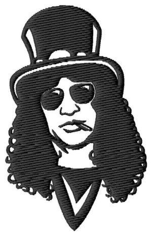 Slash Guns N Roses Embroidery Design