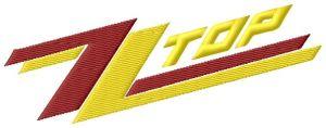 ZZ Top Logo Embroidery Design