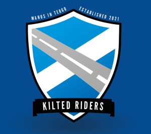 Kilted Riders - Blue Backed Logo