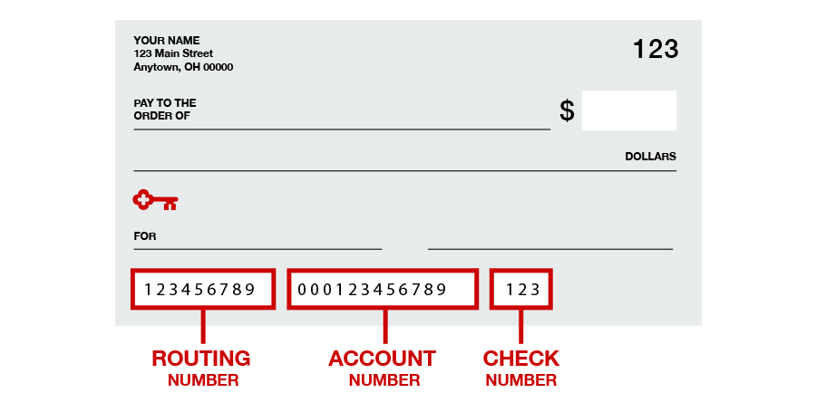Account & Check Routing Number