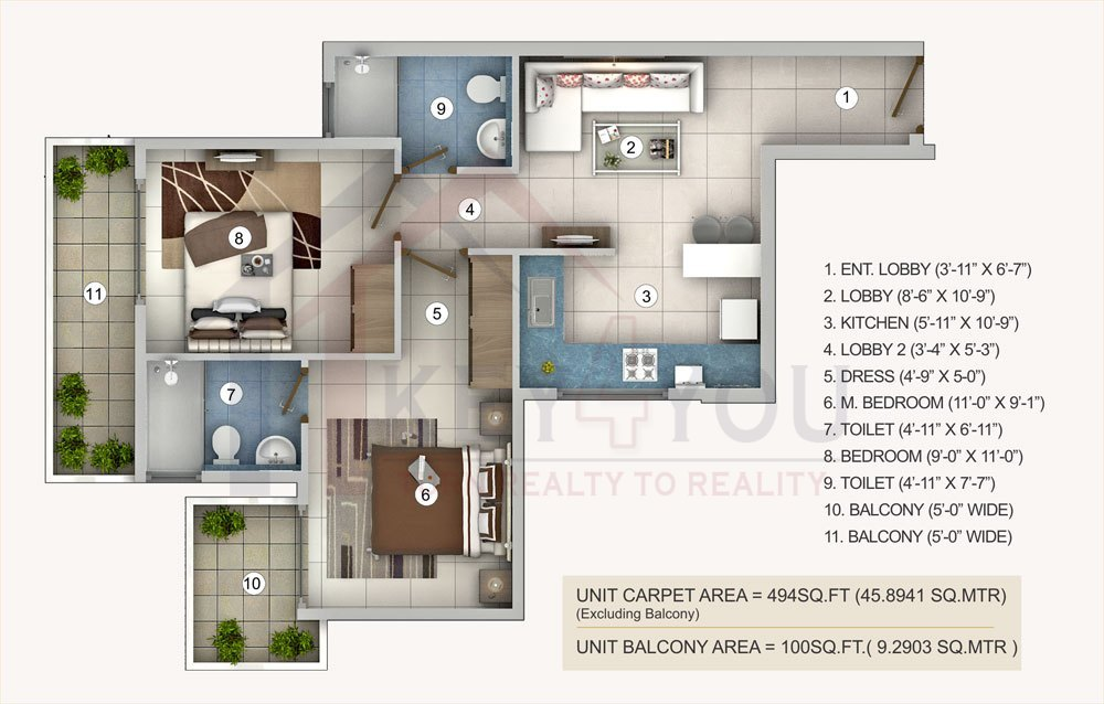 Pivotal affordable housing projects in gurgaon floor plan