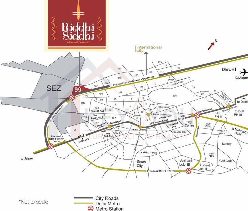 Pivotal Riddhi Siddhi Sector 99 location map