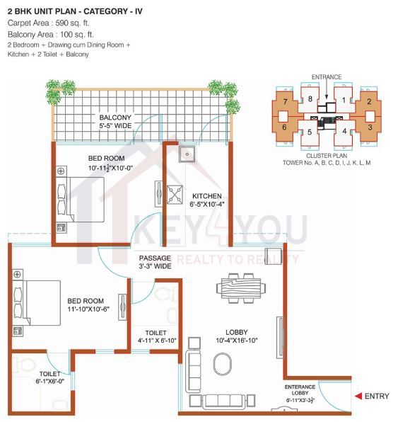 affordable housing project in sector 90 gurgaon Floor Plan