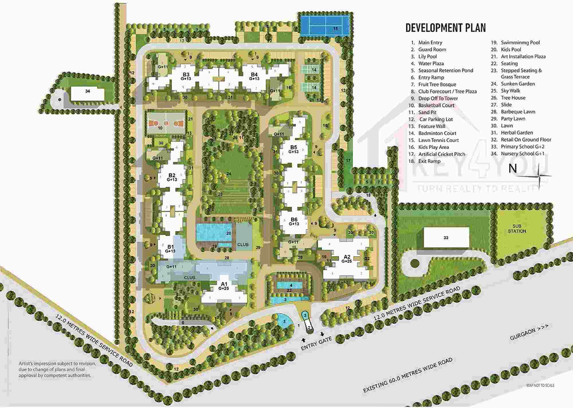 tata la veda gurgaon Site map