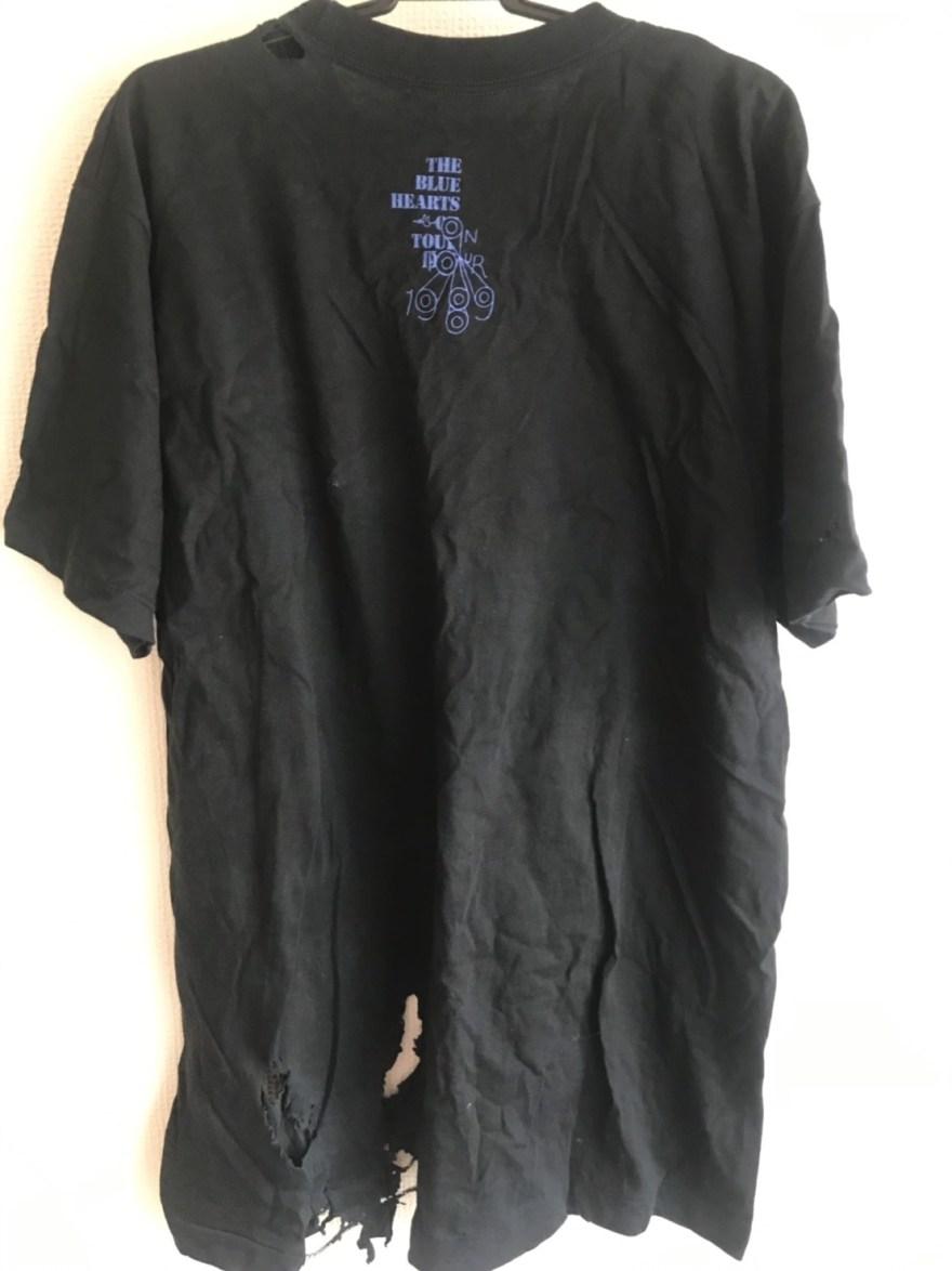 ブルーハーツ ON TOUR Tシャツ 裏