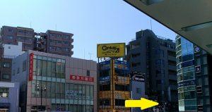 茅ヶ崎駅南口右階段前