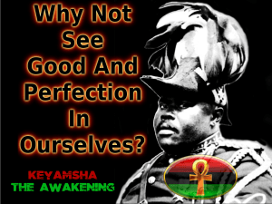 why not see good and perfection in ourselves