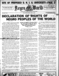 Cover from the July 31, 1926 edition of the Negro World Newspaper.