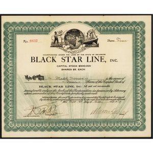 Black Star Line Stock certificate