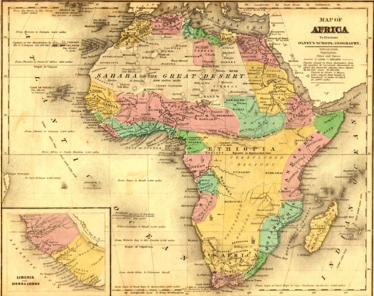 Pre-Berlin Conference map of Africa