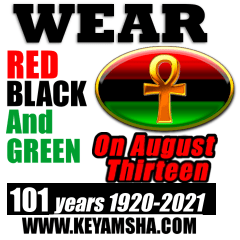 Wear Red, Black and Green on Friday the 13th of August