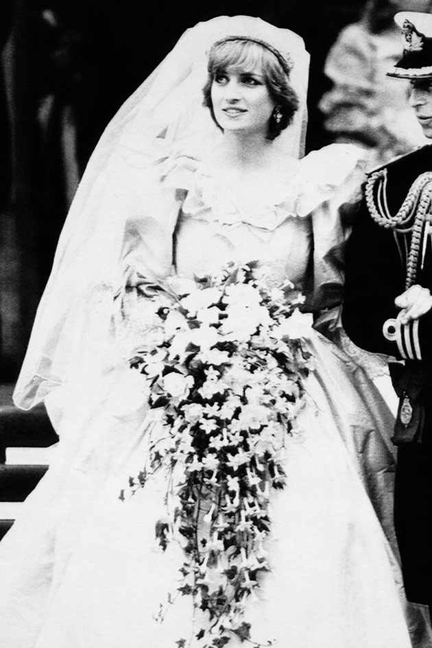 The Story Behind The Photo Princess Dianas Wedding Dress