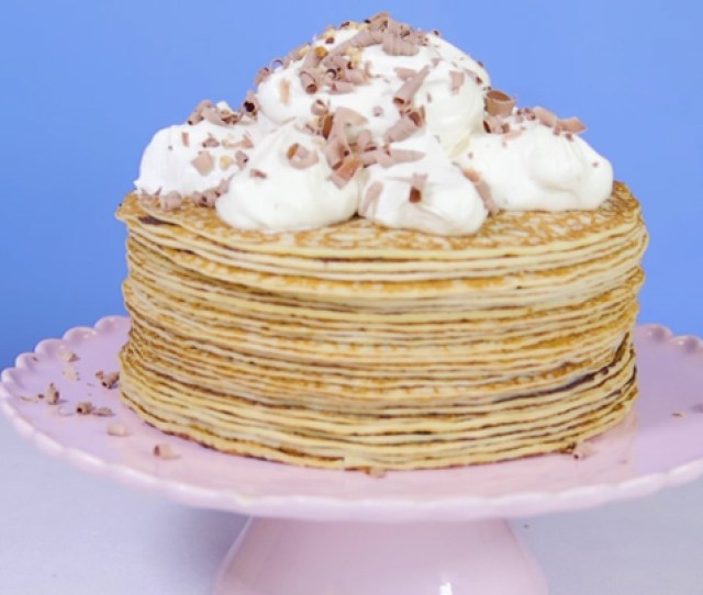 Baileys And Nutella Crepe Cake