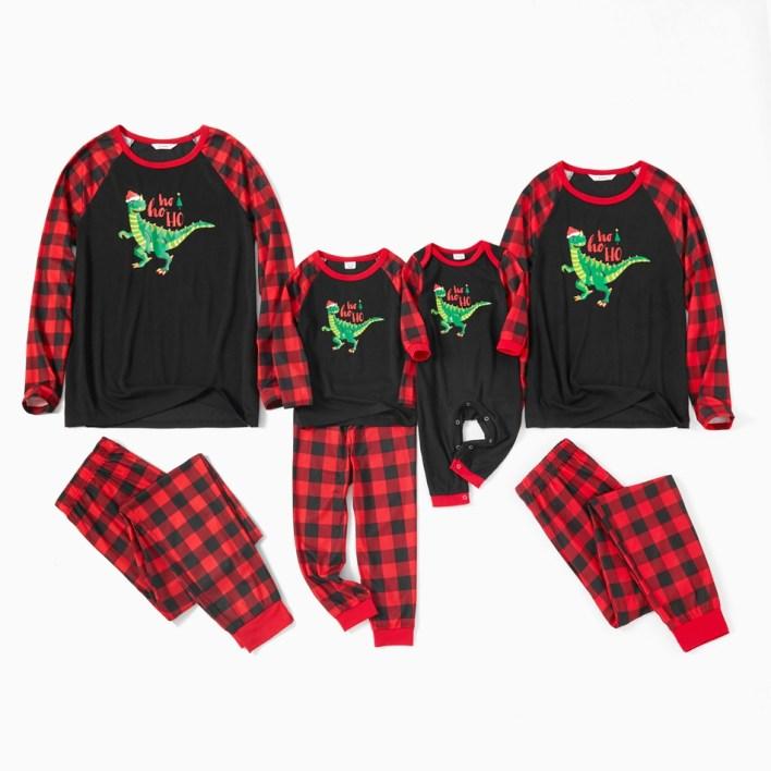 Dinosaur matching Christmas pyjamas