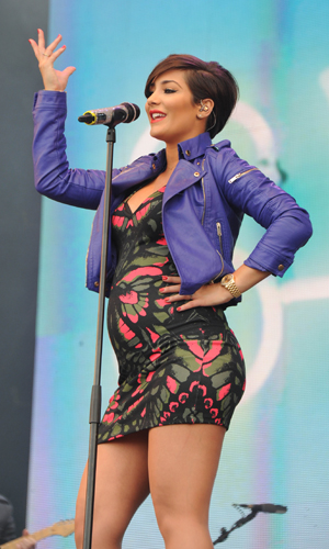 Frankie Sandford Struggling With Pregnancy Weight Gain Look