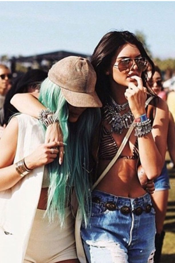 Kendall And Kylie Party Together At Coachella, 2015