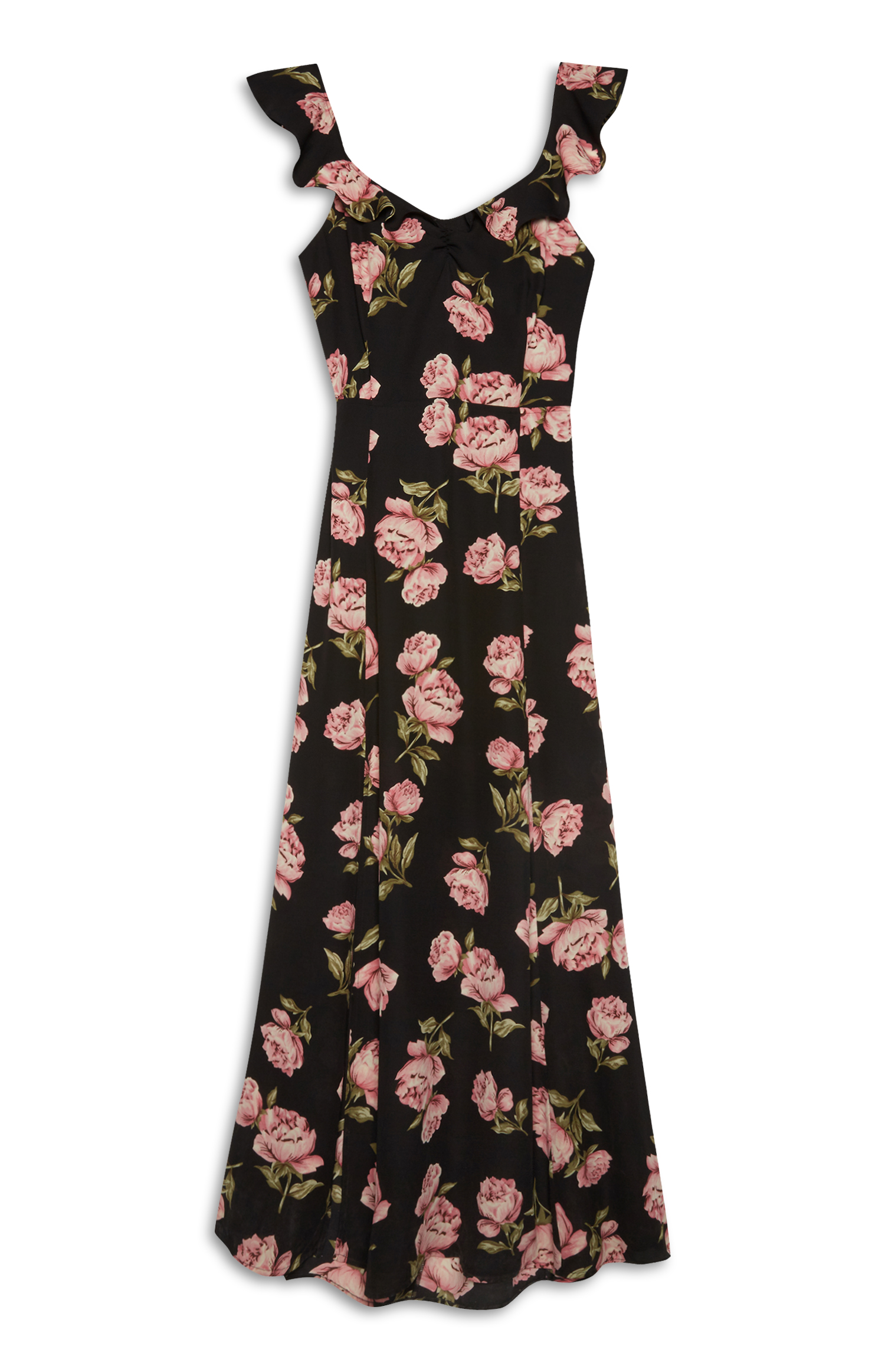 Yellow Floral Dress Primark