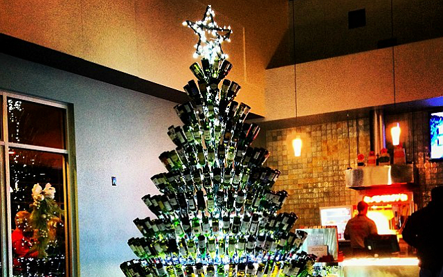 Wine Bottle Christmas Trees Are Here And Theyre Giving Us That Holiday Feeling Look Magazine