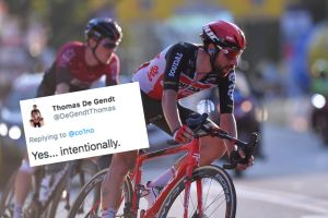 <div>Tweets of the week: Hailstorms in France and Thomas De Gendt getting dropped 'intentionally'</div>