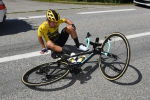 Primož Roglič still questionable for Tour de France after crash, according to his partner