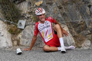 Anthony Perez suffered multiple injuries after colliding with team car and hitting cliff wall at Tour de France