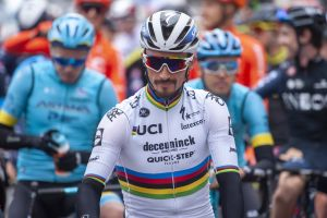 'A little tension can't hurt' says Julian Alaphilippe after almost missing out on Brabantse Pijl after celebrating too early again