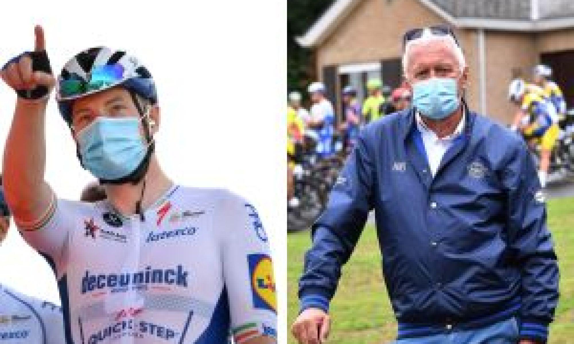 <div>Patrick Lefevere calls Sam Bennett's relegation 'bulls**t' at Vuelta a España</div>