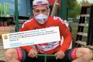 <div>Tweets of the Week: Julian Alaphilippe's dancing, Jasper Philipsen's new bike and Elinor Barker's lockdown injury</div>