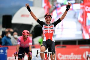 Tim Wellens powers to second breakaway win of the Vuelta a España 2020 on stage 14