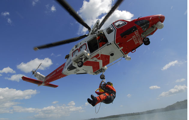 Helicopter Rescue At Sea