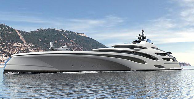 120m Trimaran Concept From Echo Yachts SuperYacht World