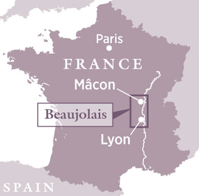 Image result for beaujolais map