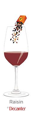 raisin flavour in wine