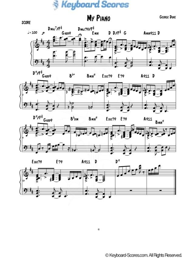 My Piano – George Duke