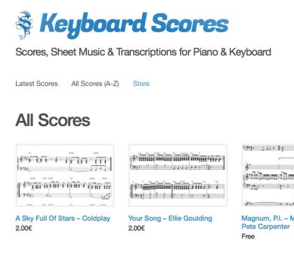 Keyboard Scores