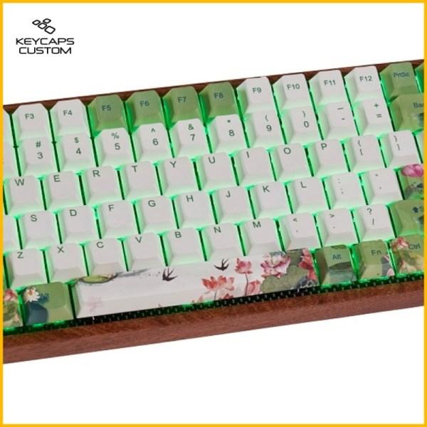 Lotus-keycaps-set-onkeyboard