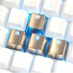 Metal keycaps