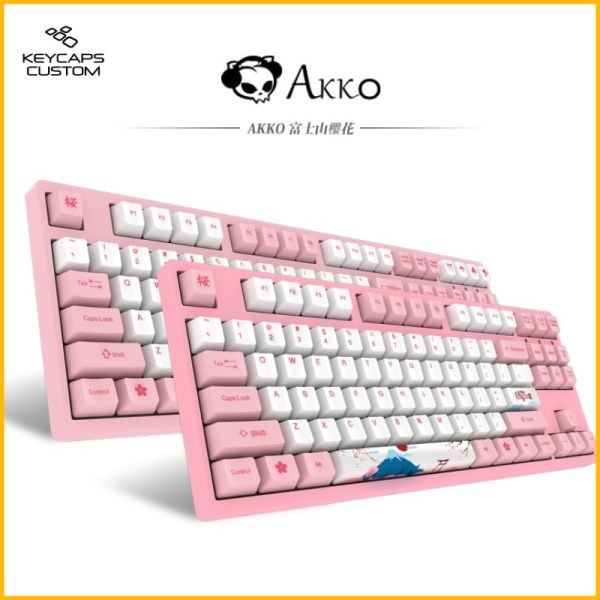 PBT Keycaps Akko Pink Color 00