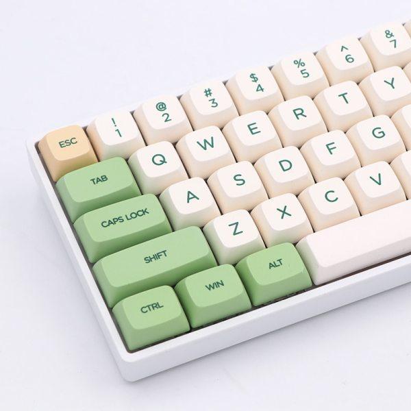 PBT Keycaps Green Color 00