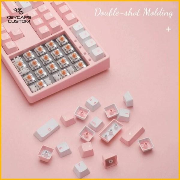 PBT Keycaps Pink Sakura