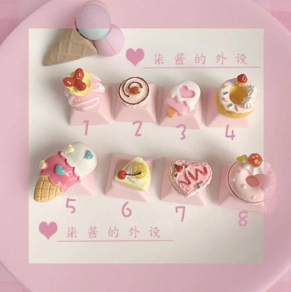 PBT Custom Keycaps Pink Cute