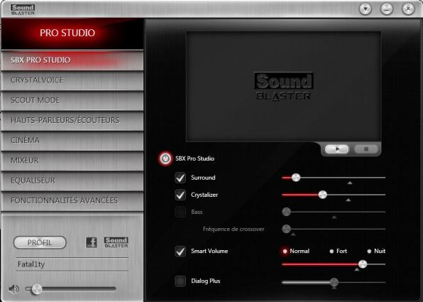 Sound_Blaster_Z Logiciel
