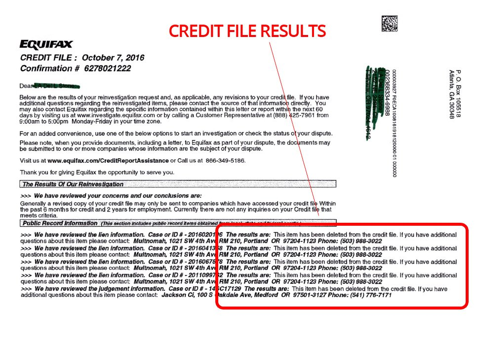 Credit File Results