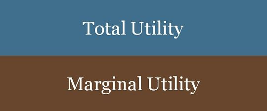 r concept of utility, marginal utility and total utility