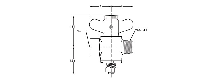 Adjustable Flow Gas Valve